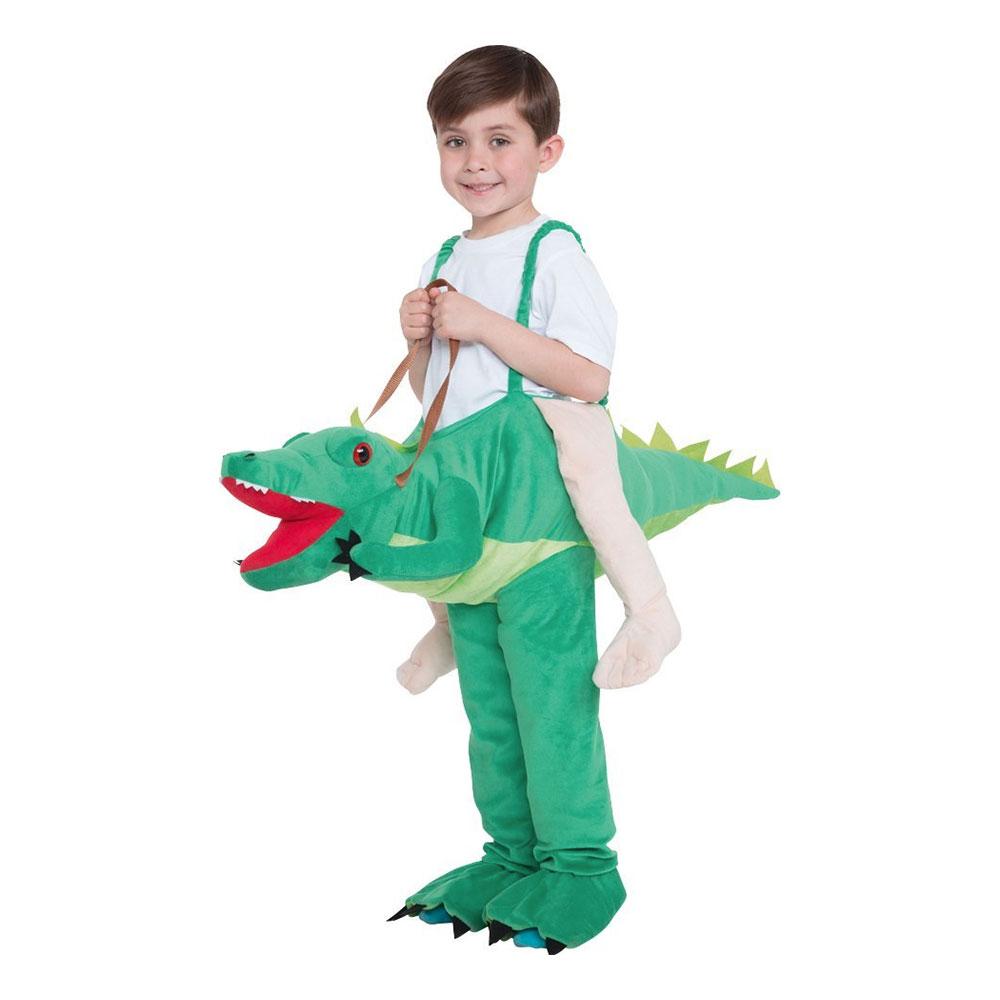 Ridande Krokodil Barn Maskeraddräkt - One size Billigt  d6399165de8b0