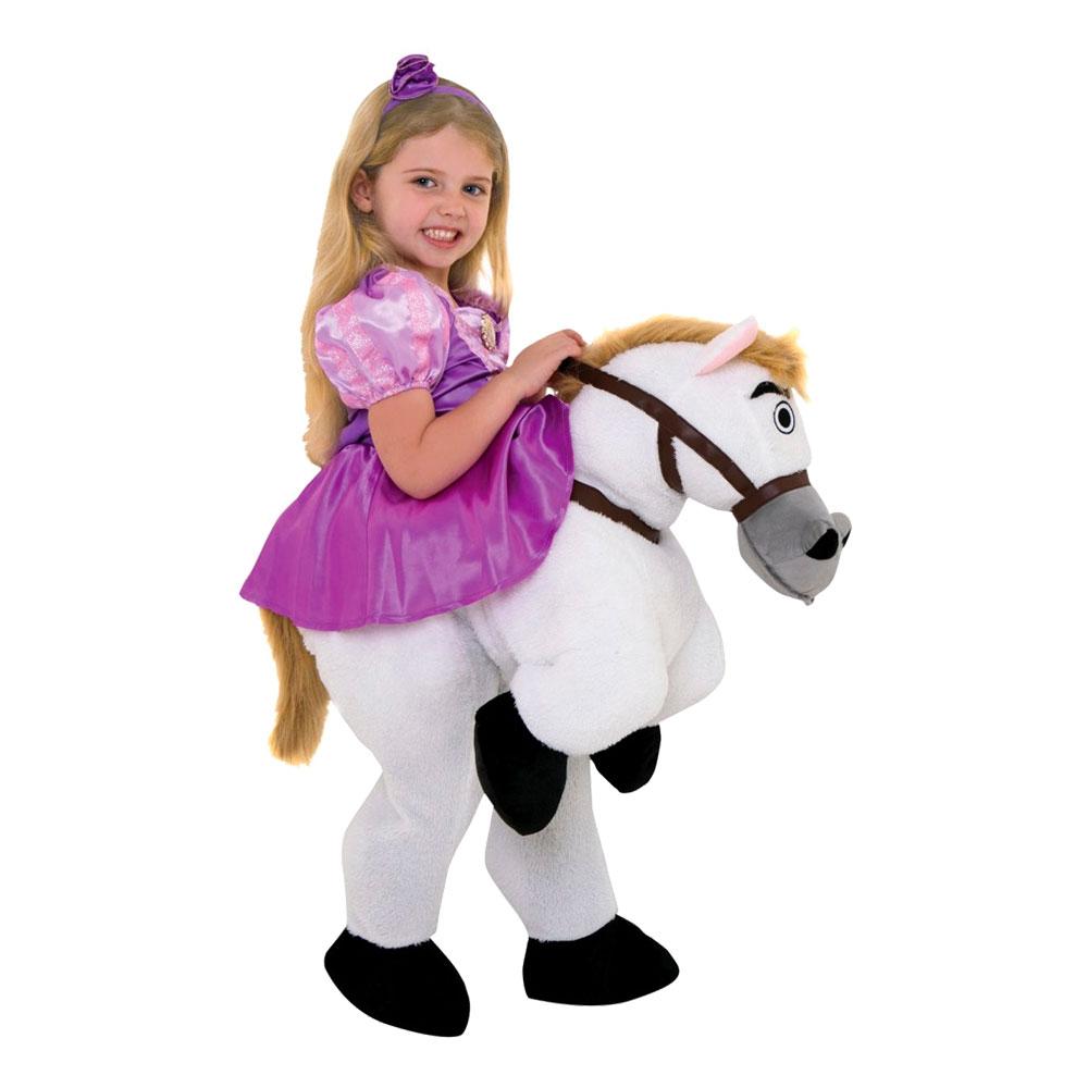 Ridande Rapunzel Häst Barn Maskeraddräkt - Small