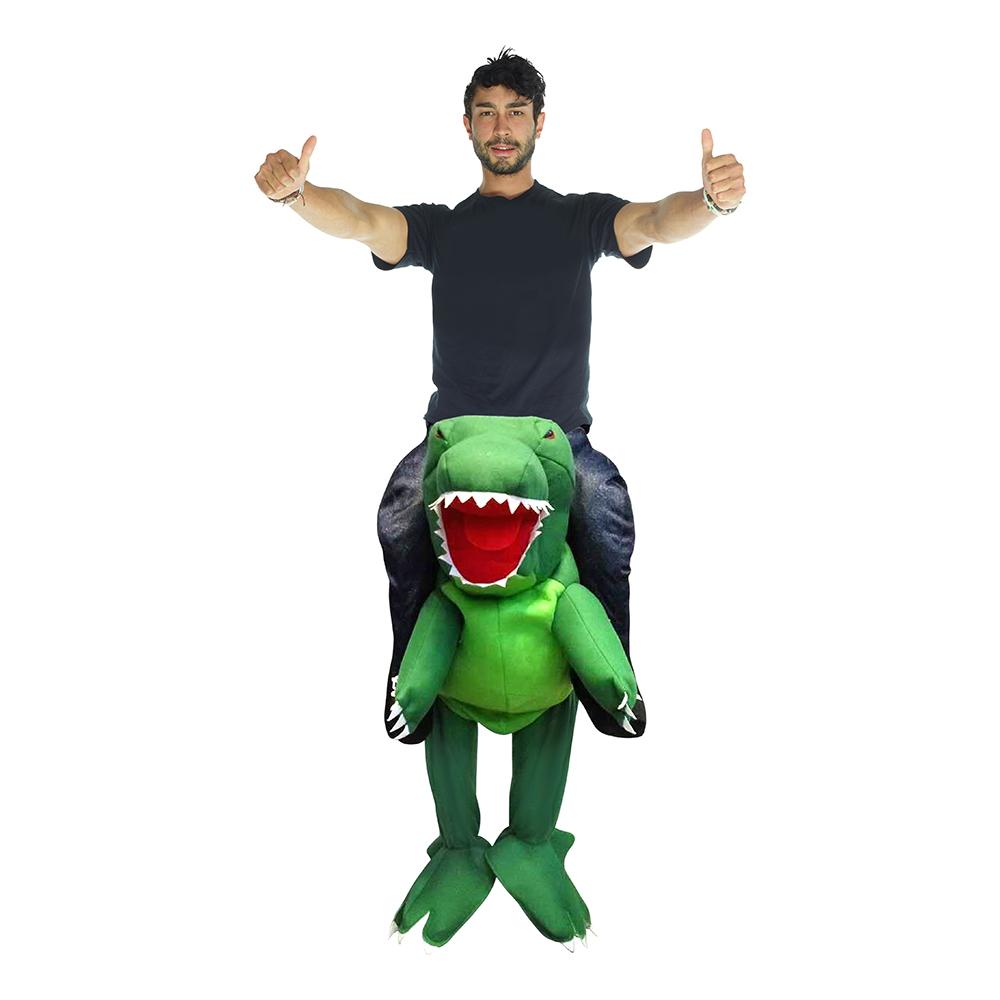 Dinosauriedräkter - T-Rex Piggyback Maskeraddräkt - One size