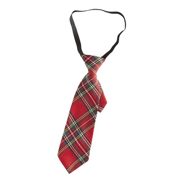 Röd Skotskrutig Slips