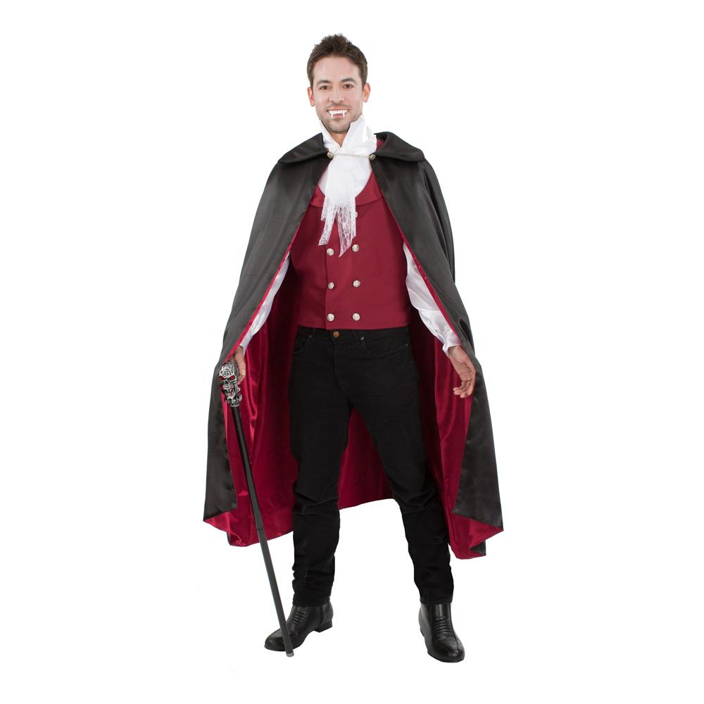 Röd Vampyr Maskeraddräkt - Standard