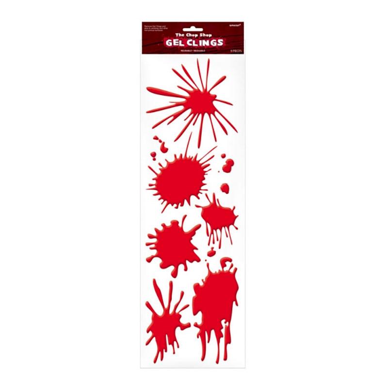 Röda Blodfläckar Halloweendekor