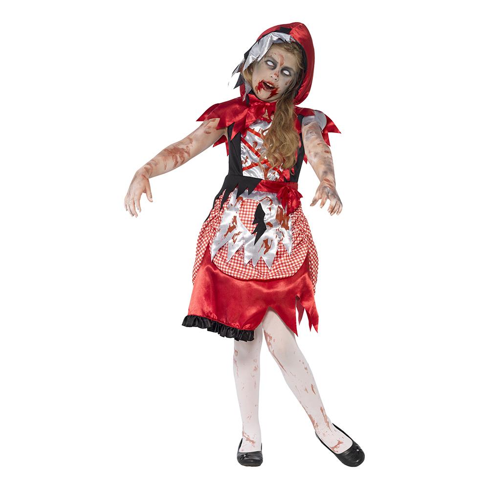 Rödluvan Zombie Barn Maskeraddräkt - Small