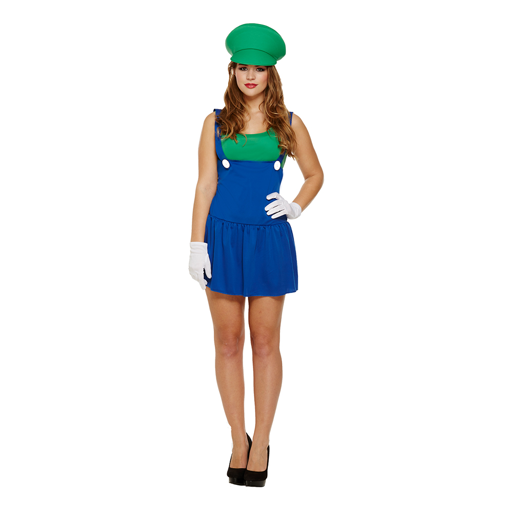 Rörmokartjej Grön Budget Maskeraddräkt - One size