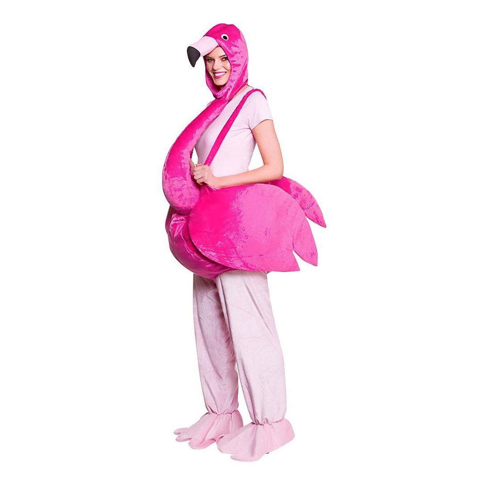 Rosa Flamingo Maskeraddräkt - One size