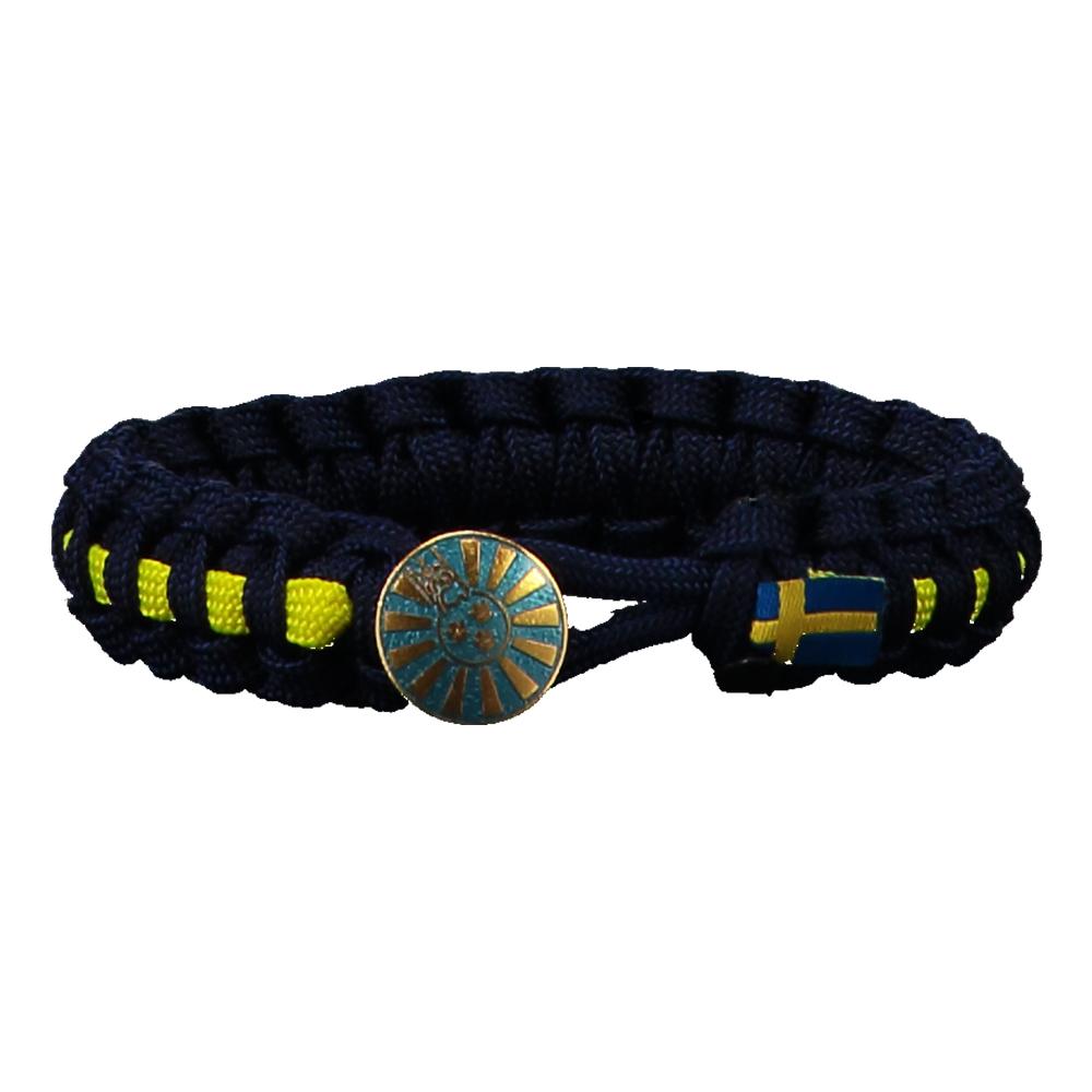 RT Paracord Armband - Blå/Gul