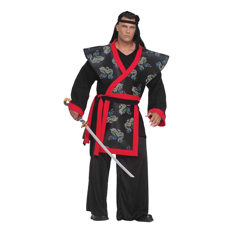 Samurajkrigare Plus-size Maskeraddräkt - Plus size