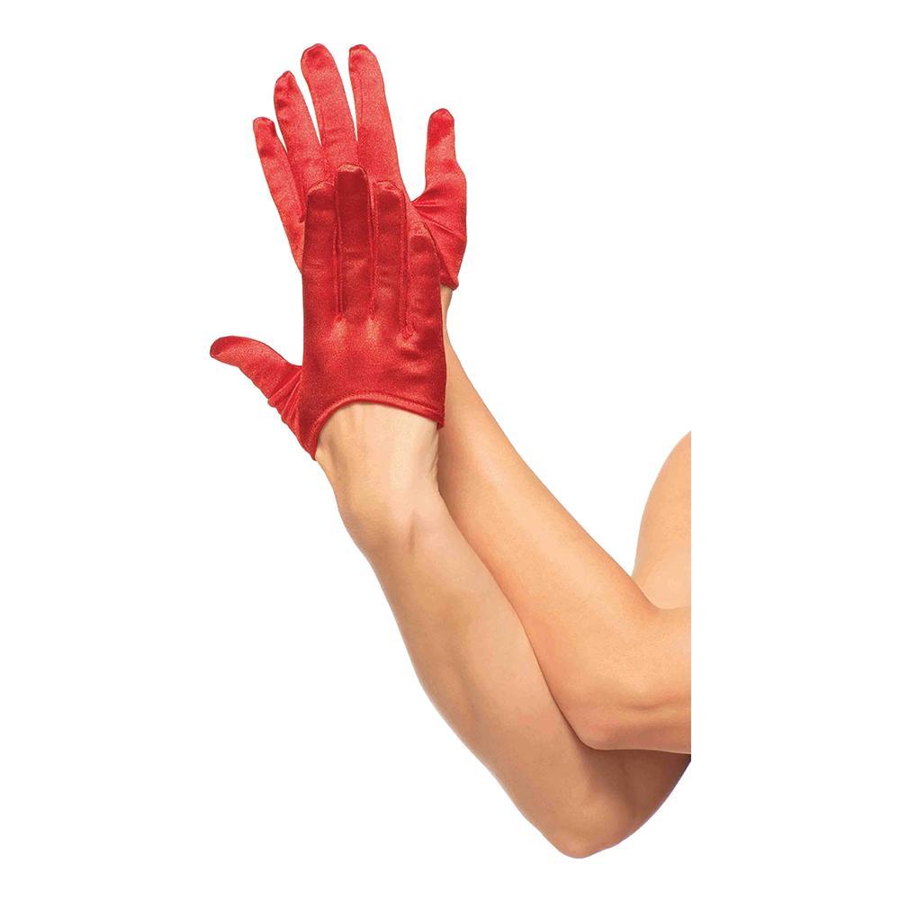 Satinhandskar Mini Deluxe - Röd
