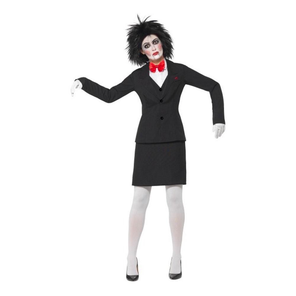 Saw Puppet Tjej Maskeraddräkt - Medium