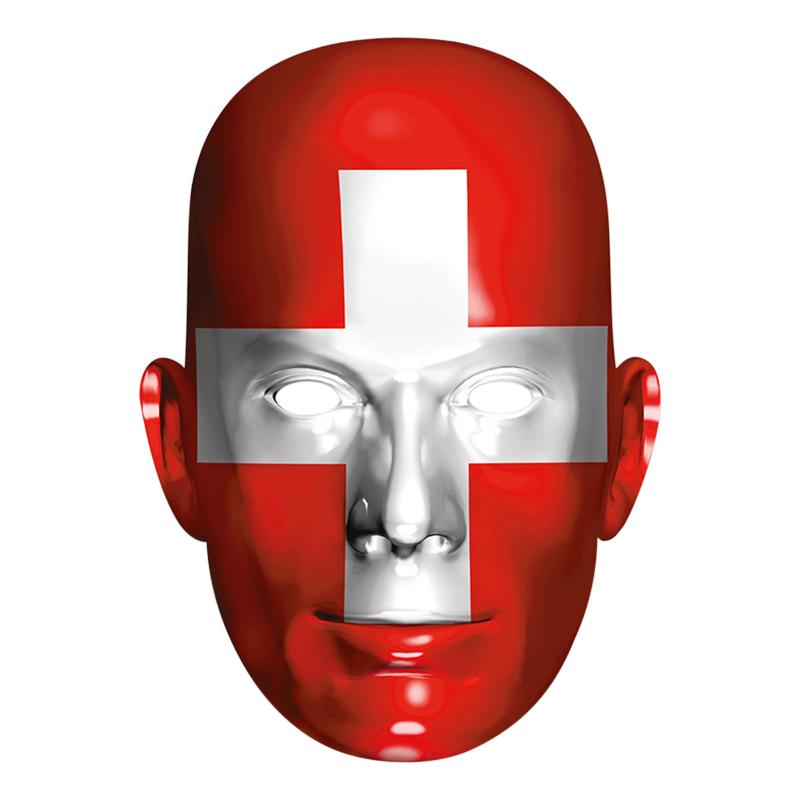 Schweiz Flagga Pappmask
