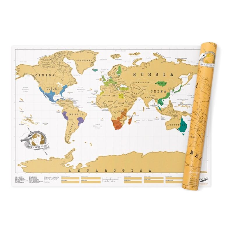 Scratch Map - Liten