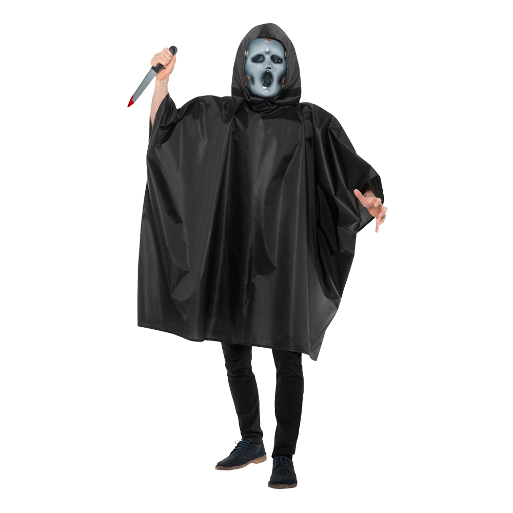 Scream Poncho Maskeraddräkt - Medium