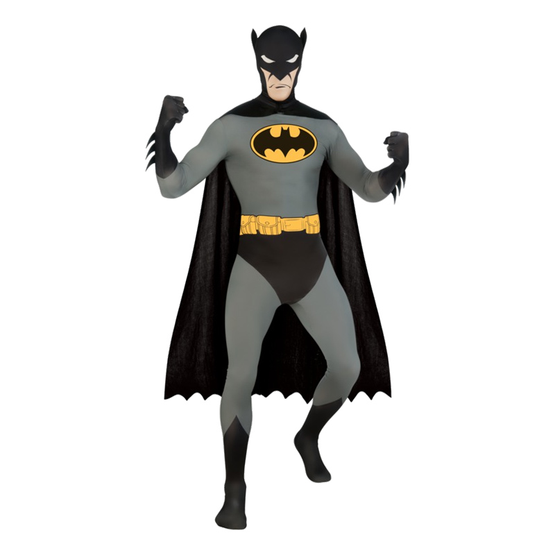 Second Skin Batman Maskeraddräkt - Medium