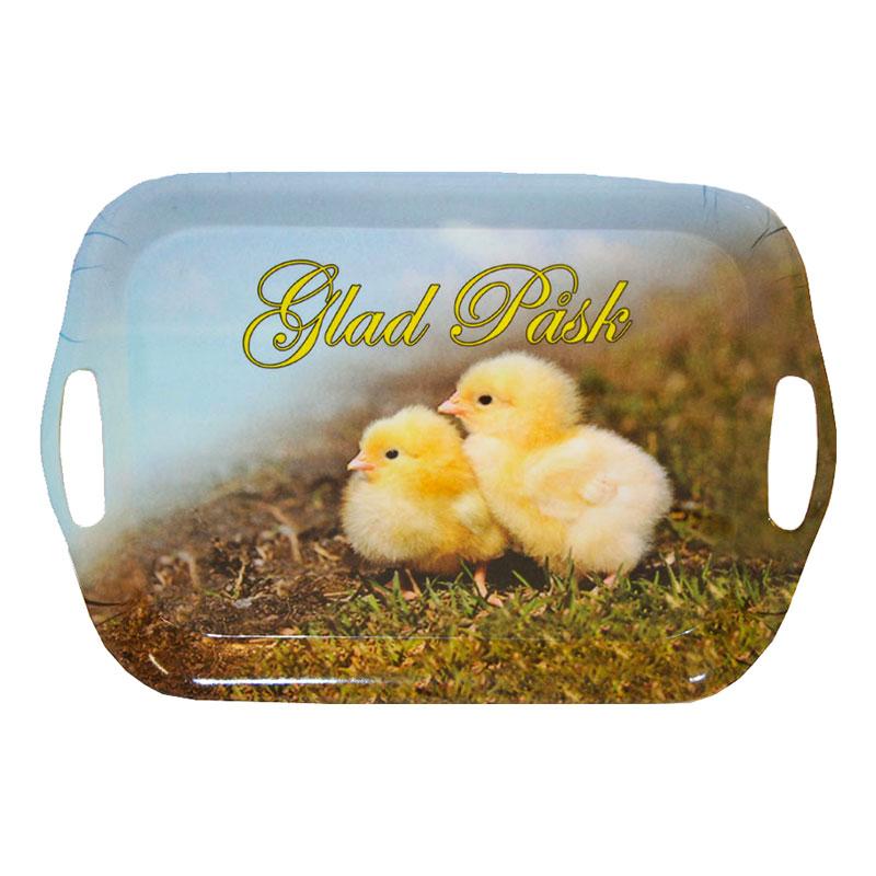 Serveringbricka Glad Påsk Kycklingar