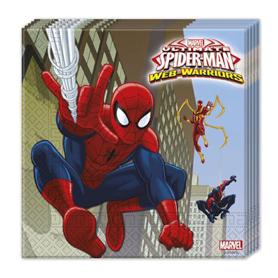 Servett Ultimate Spiderman - 20-pack
