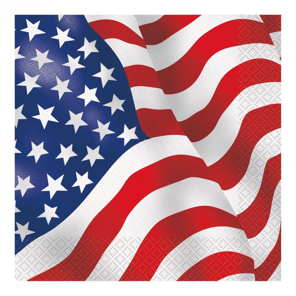 Servetter USA Flagga - 16-pack