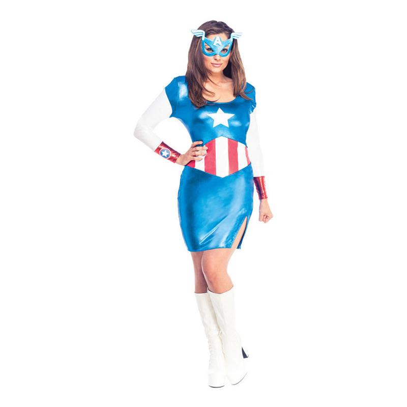 Captain Americaklänning Maskeraddräkt - Small