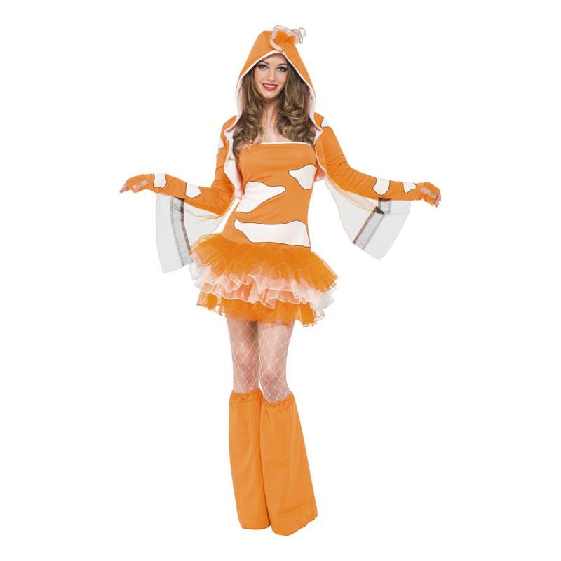 Clownfishklänning Maskeraddräkt - X-Small