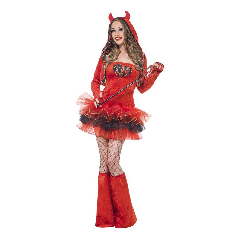 Djävulsklänning Röd Maskeraddräkt - Medium