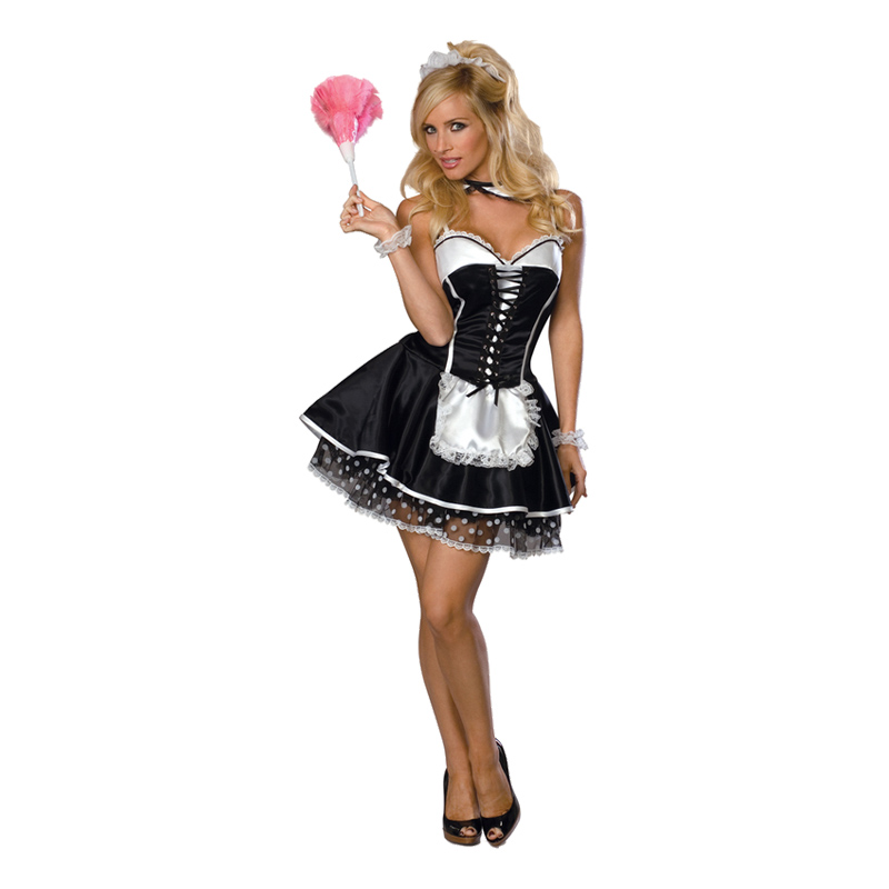 French Maid Maskeraddräkt - Small