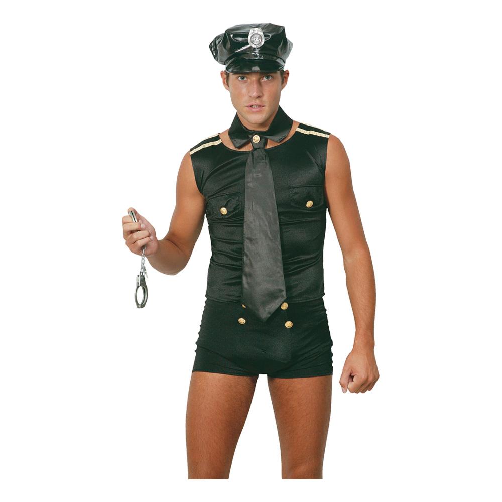 Polisman med Shorts Maskeraddräkt - One size