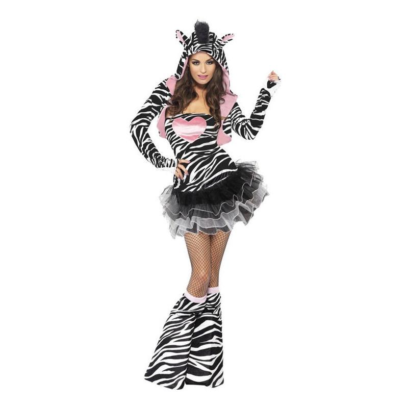 Zebraklänning Maskeraddräkt - Small