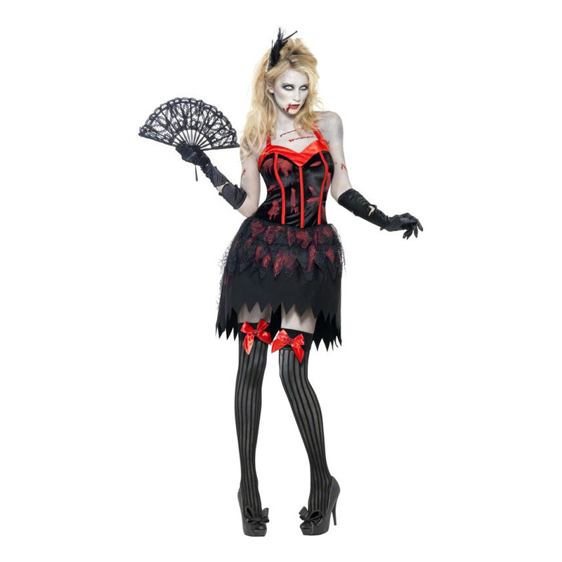 Zombie Burlesque Maskeraddräkt - Medium