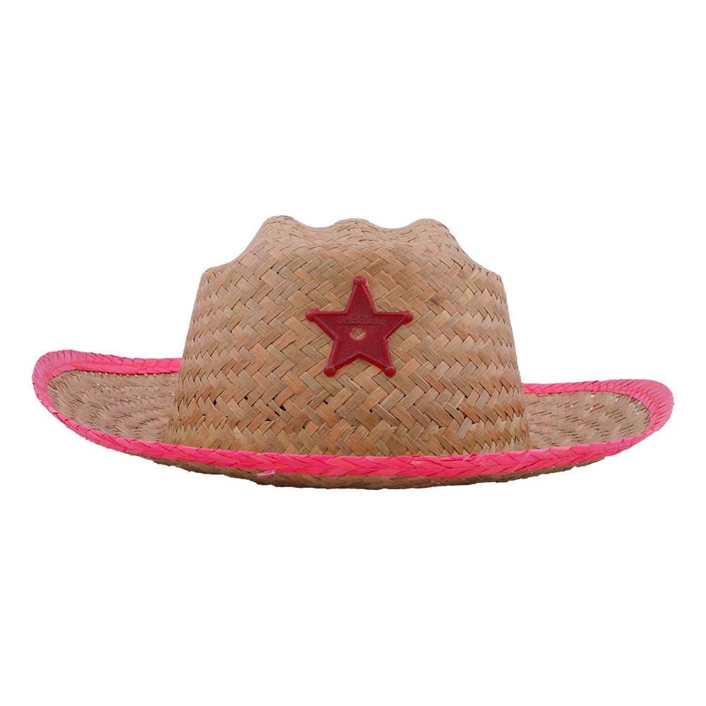 Sheriffhatt med Stjärna Barn - Röd
