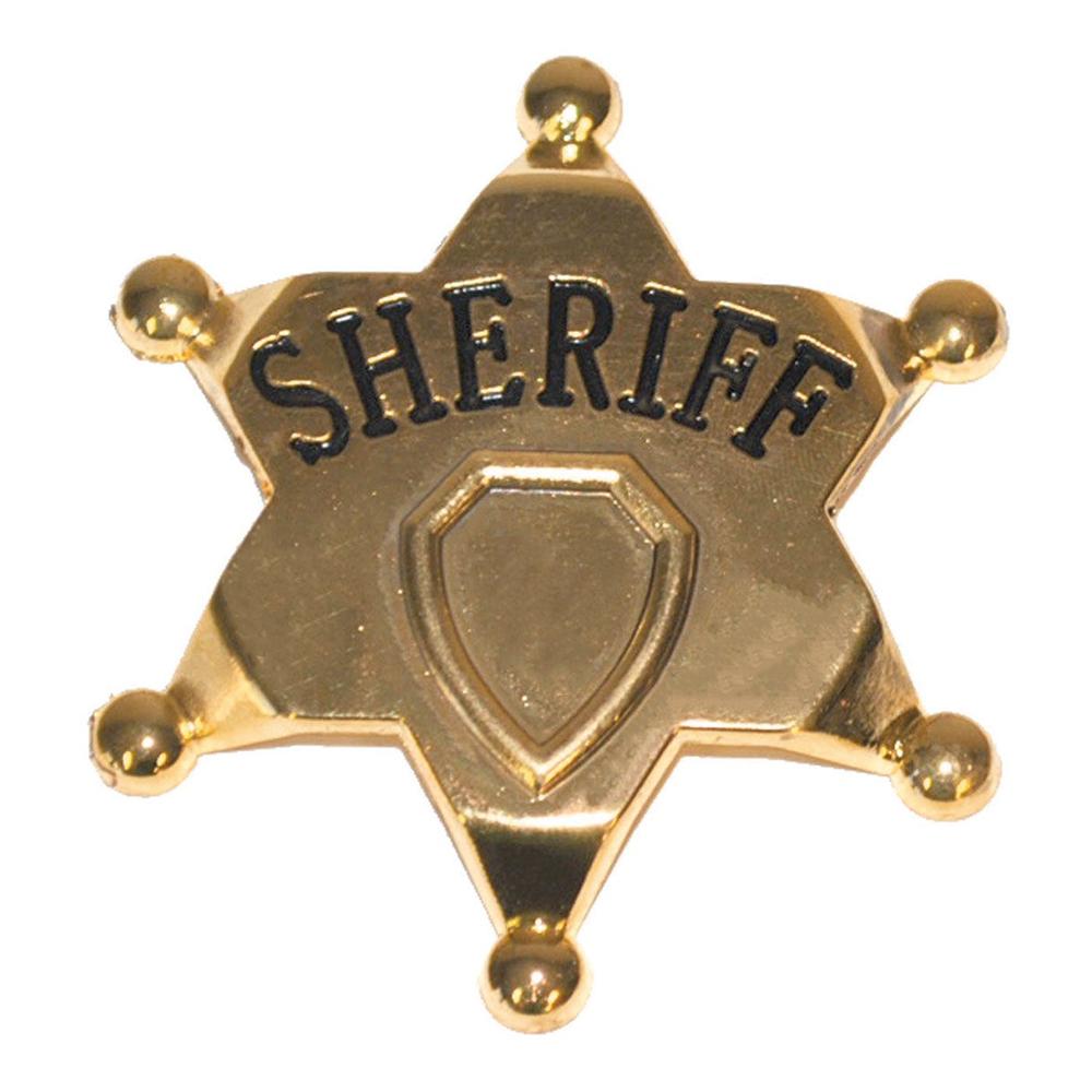 Sheriffstjärna i Metall