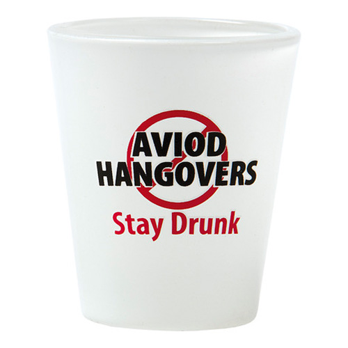 Shotglas Avoid Hangovers