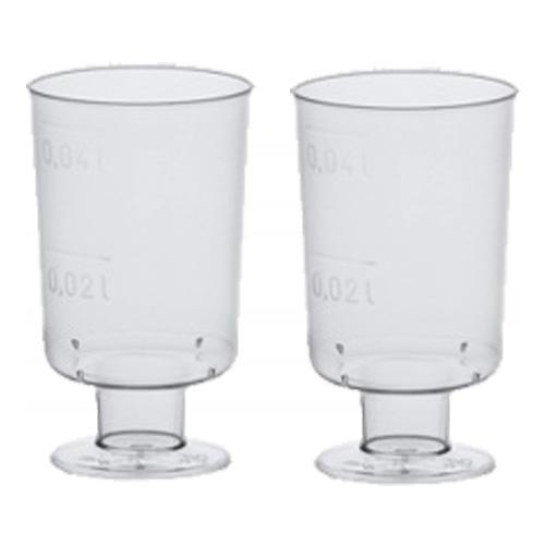 Shotglas med Fot i Plast - 20-pack