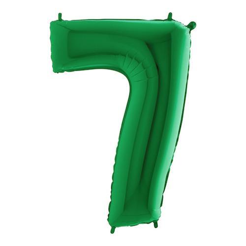 Sifferballong Grön Metallic - Siffra 7