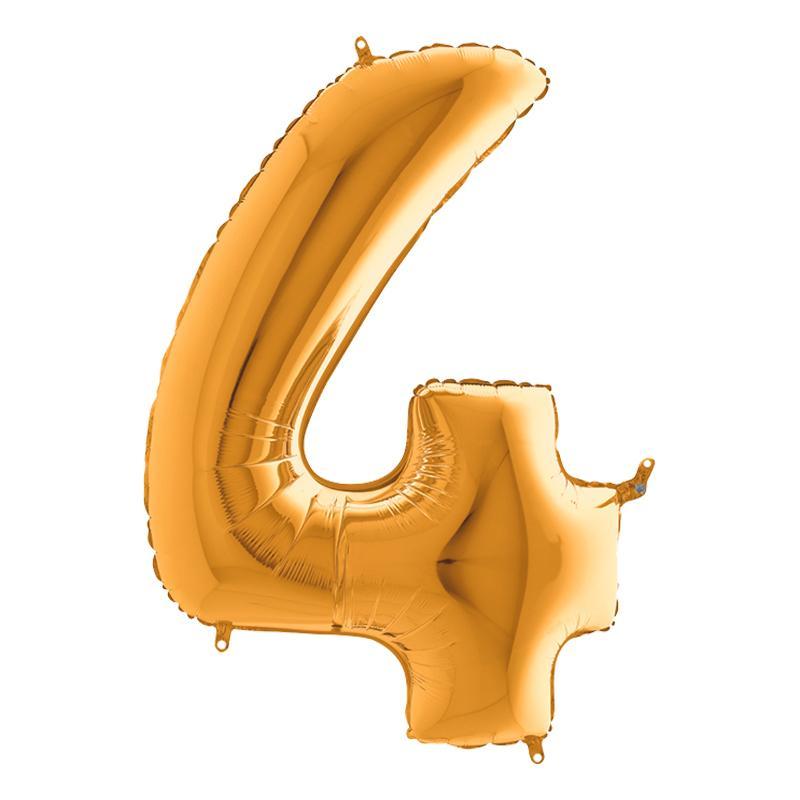 Sifferballong Guld Metallic - Siffra 4
