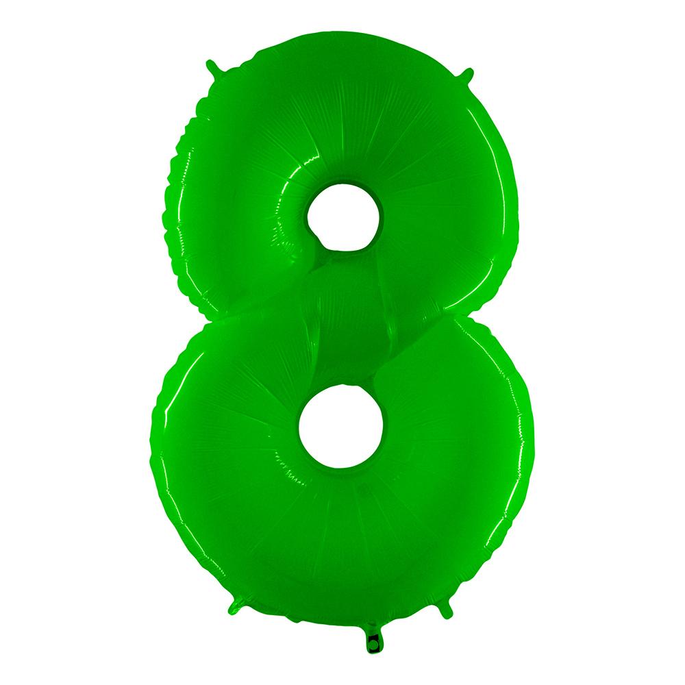 Sifferballong Neon Grön - Siffra 8