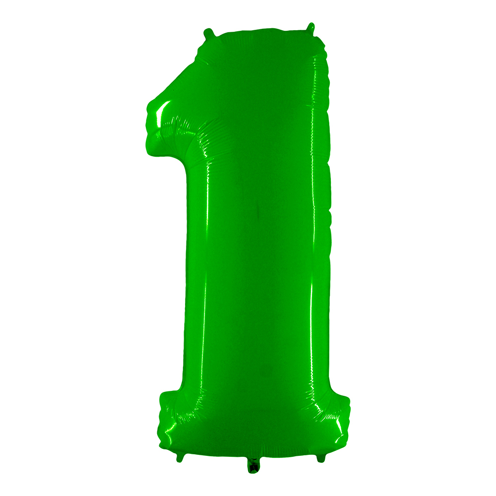Sifferballong Neon Grön - Siffra 1