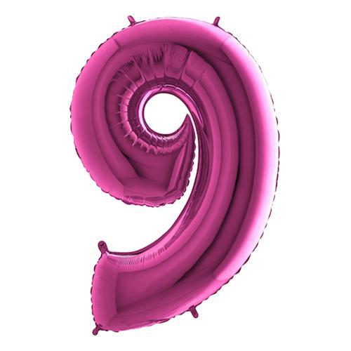 Sifferballong Rosa Metallic - Siffra 9