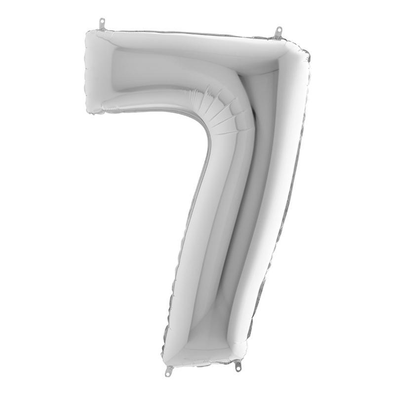 Sifferballong Silver Metallic - Siffra 7