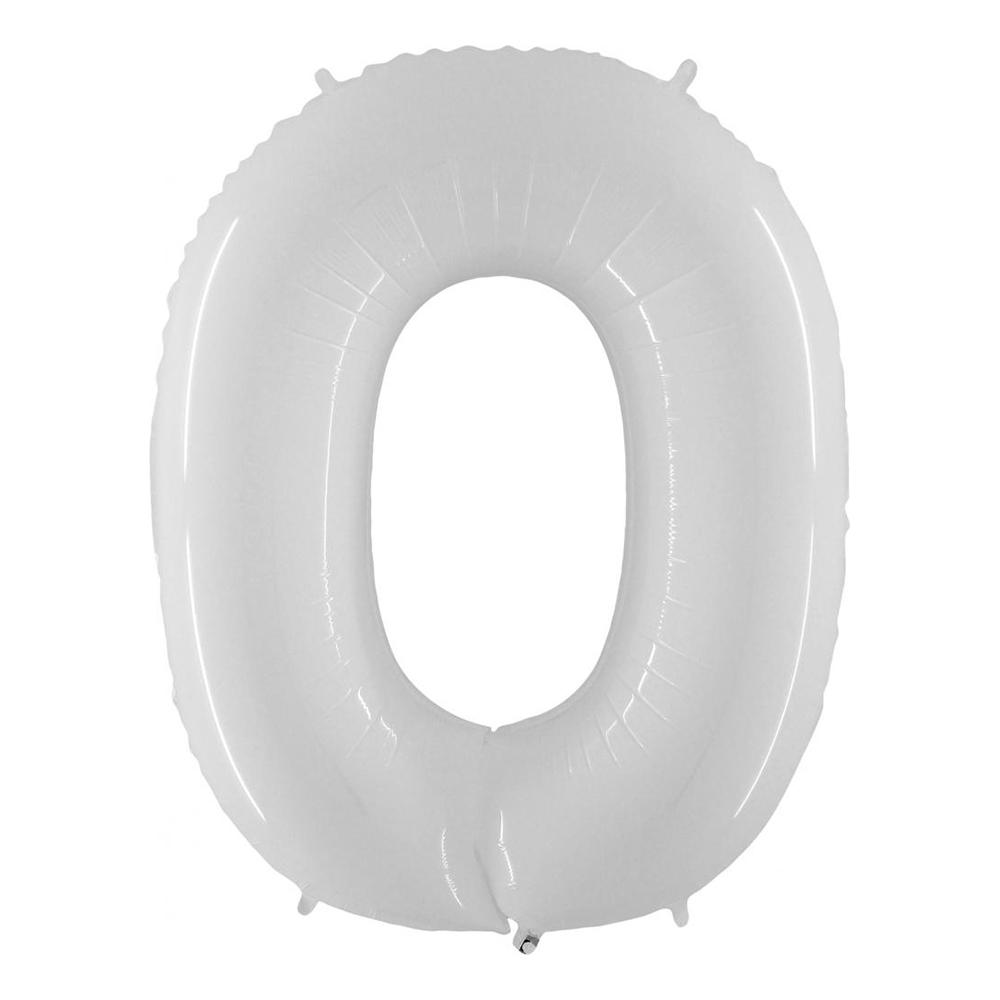 Sifferballong Vit - Siffra 0