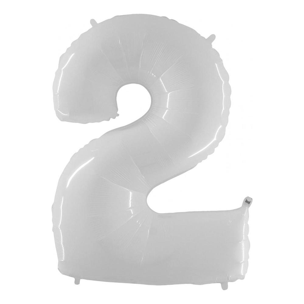 Sifferballong Vit - Siffra 2