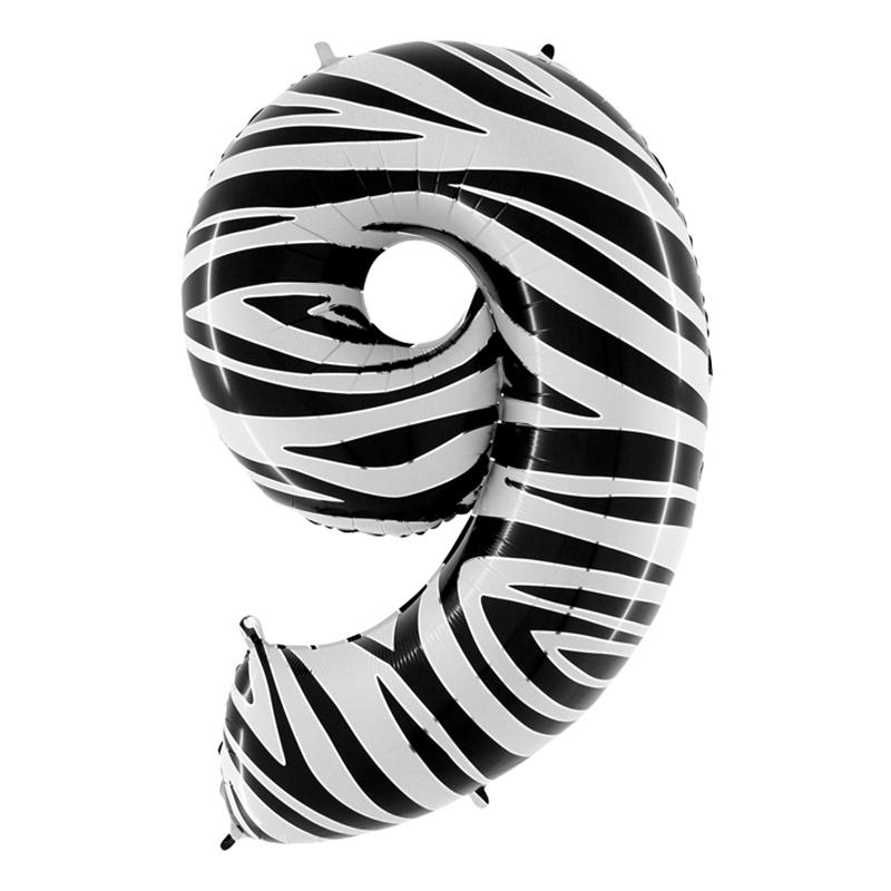 Sifferballong Zebra - Siffra 9