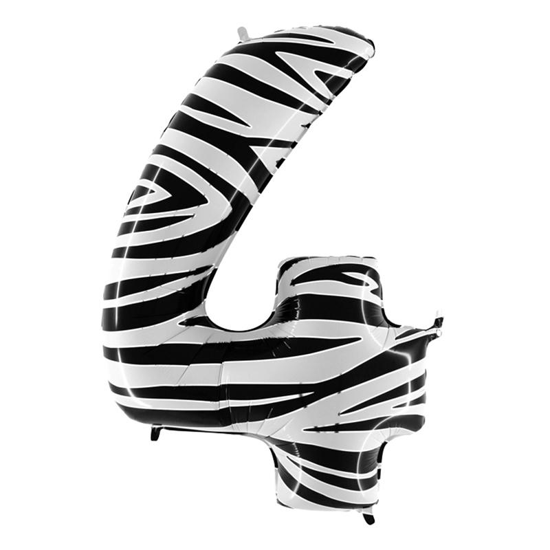 Sifferballong Zebra - Siffra 4