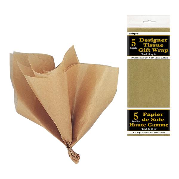 Silkespapper Guld - 5-pack