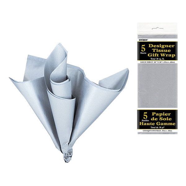 Silkespapper Silver - 5-pack