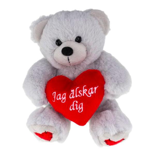 Sittande Nallebjörn Jag älskar dig
