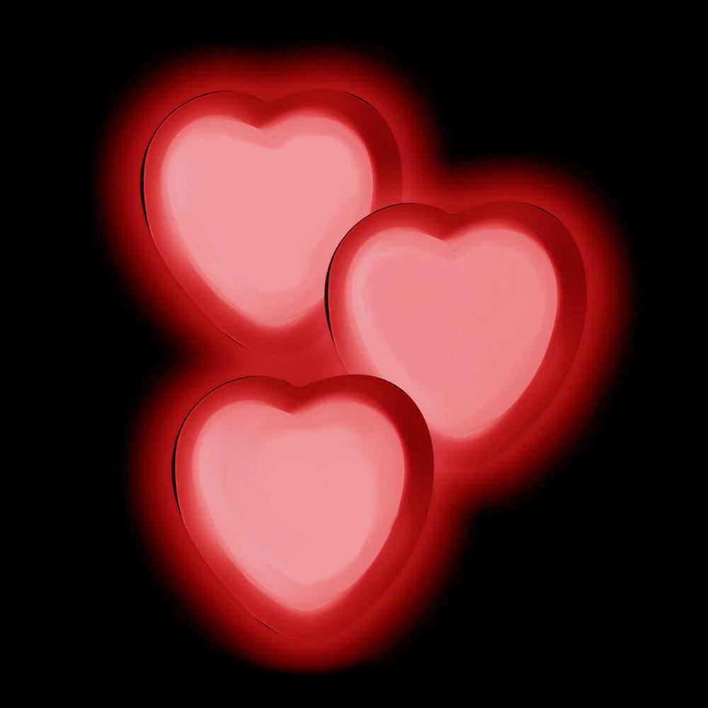 Självlysande Hjärtan - 1-pack