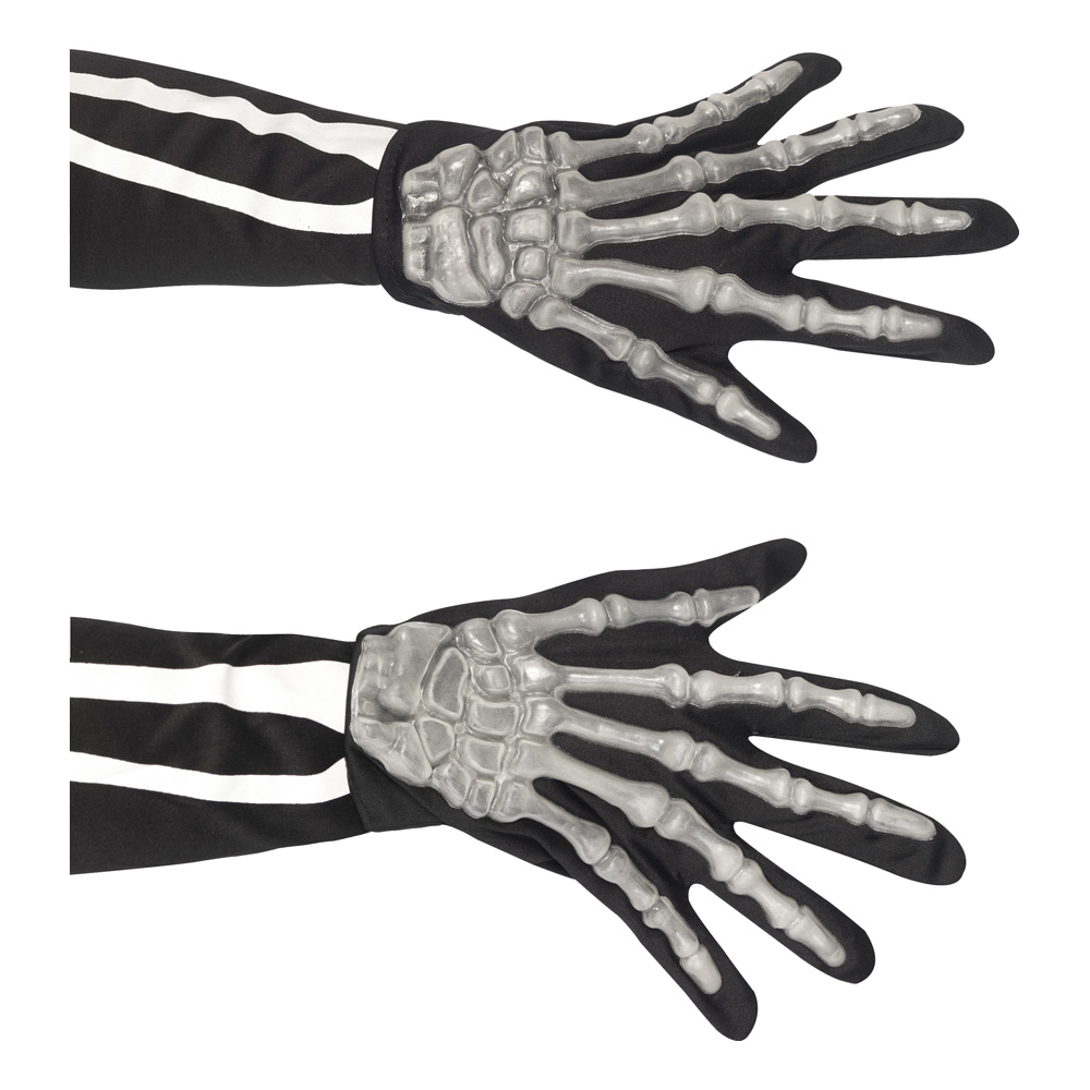 Självlysande Skeletthänder - One size