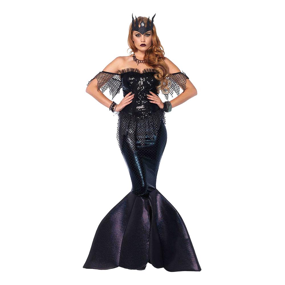 Sjöjungfru Drottning Halloween Deluxe Maskeraddräkt - Medium
