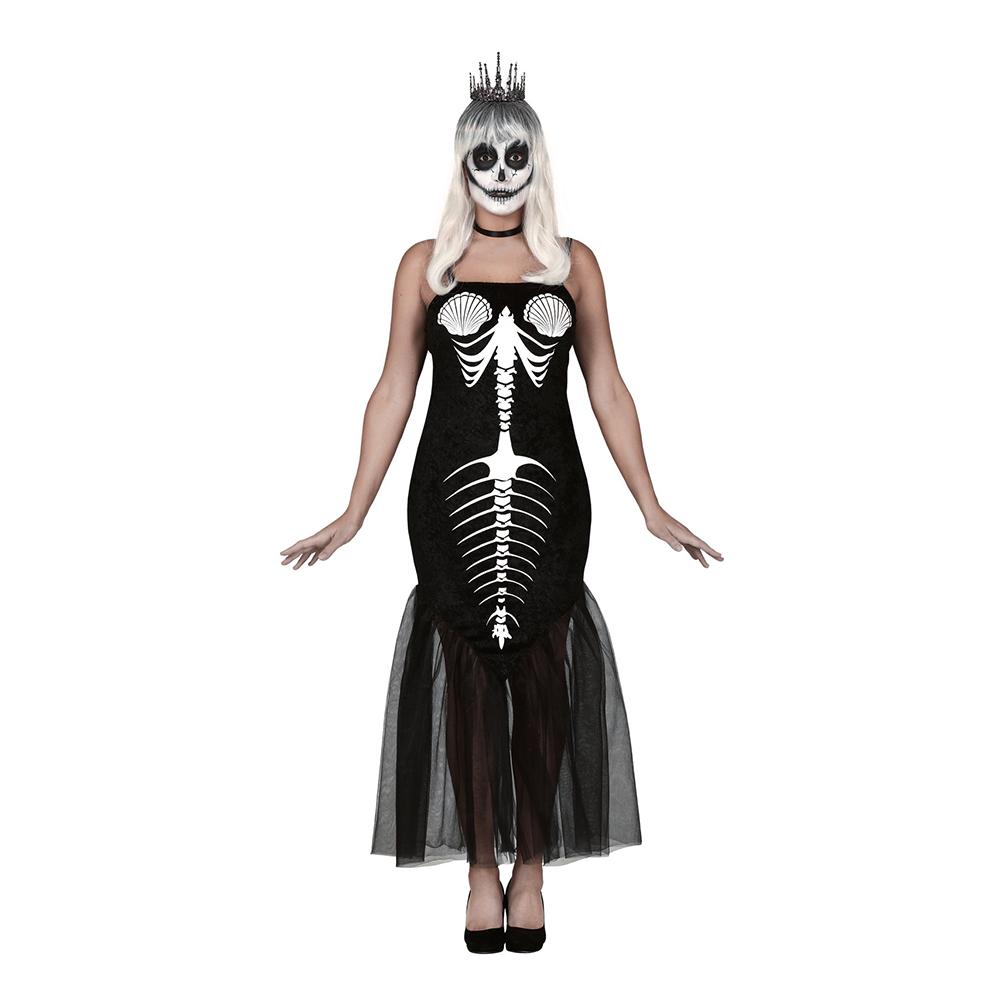 Sjöjungfru Skelett Maskeraddräkt - Small