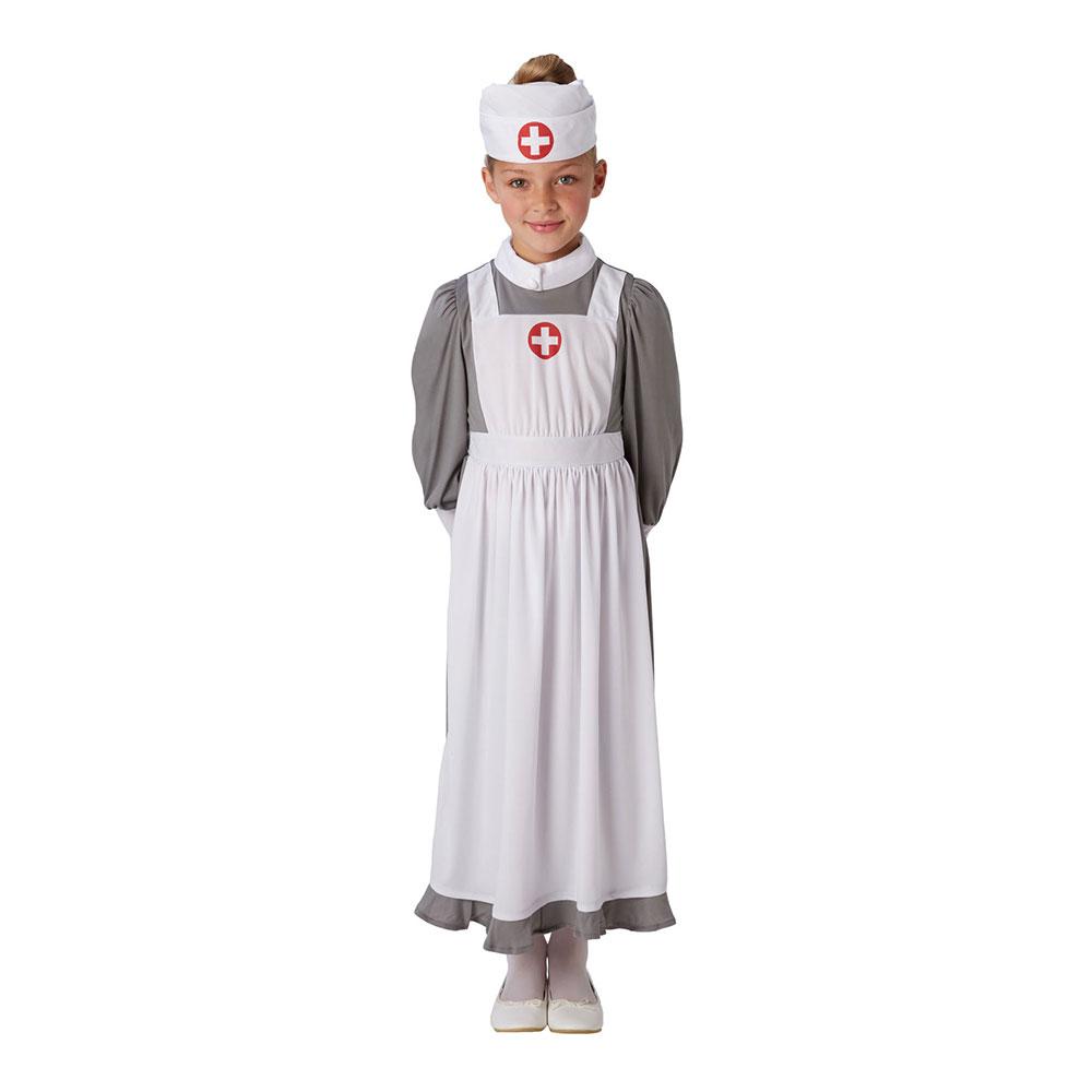 Sjuksköterska Klassisk Barn Maskeraddräkt - Medium