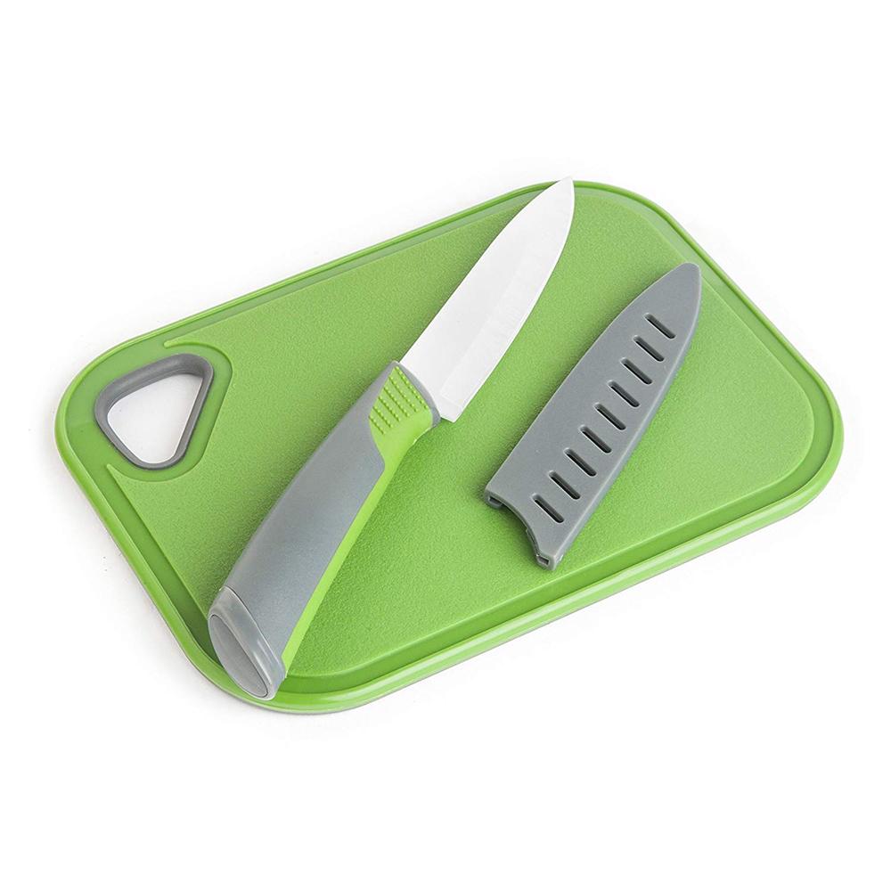 Skärbräda med Keramisk Kniv